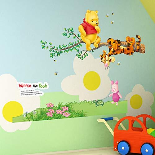Colorfulworld Autocollants muraux Motif Winnie l'ourson et ses amis