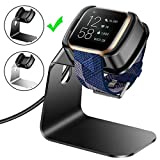 CAVN Charger Dock Compatible with Fitbit Versa 2 (Not for Versa), Charger Stand Charging Cable Dock Station Base Cradle with 4.5ft USB Cord Replacement Accessories for Versa 2 Smart Watch (Black)