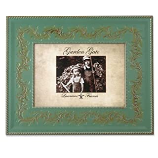Lawrence Frames Garden Gate Rustica Floral Vine with Rope Border 5 by 7-Inch Metal Picture Frame, Vintage Green (B00714A07G) | Amazon price tracker / tracking, Amazon price history charts, Amazon price watches, Amazon price drop alerts