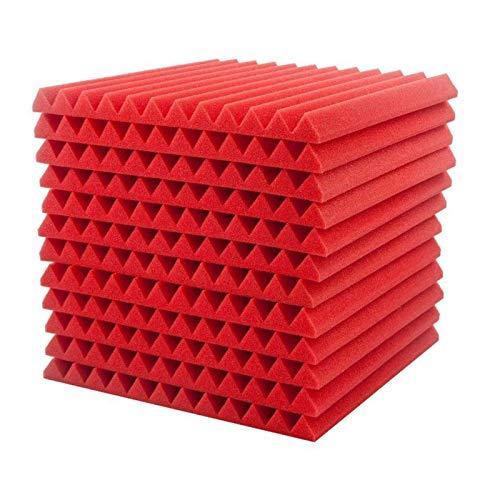 4444 12 Akkustik Platten Akustikschaumstoff Fliesen Dämmung Wanddeko Pyramiden Noppenschaumstoff Breitbandabsorber Decke Foam Feuerhemmend H7