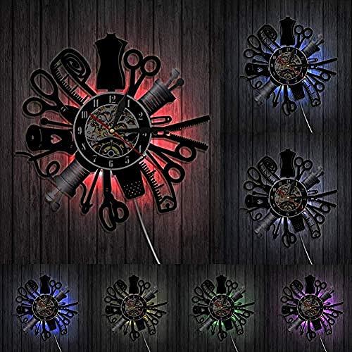 Vintage machine wandklok vinylplaat kunst aan de muur decoratieve klok mode winkel decor muur teken retro cadeau idee