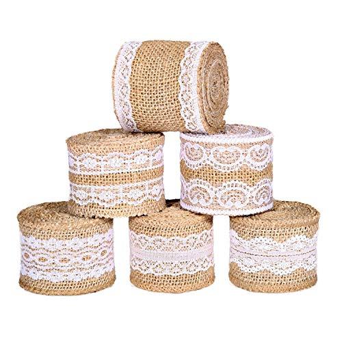 """Qualité de Hesse Ribbon Wire Edged Rustique Toile De Jute Marron Cadeau Emballage /""""de Hesse/'"""