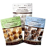 Hammond's Candies Bundle of Gourmet Marshmallows - 4oz Bags -1 each of Chocolate Chip, Vanilla Bean, & Toasted Coconut