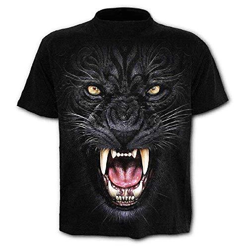 C09 - gebreid t-shirt - korte mouwen - 3d - vrouw - man - man - grappig - unisex - accessoires - origineel cadeau-idee - vermomming - zwarte panter - leeuw