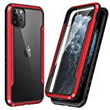 SmartDevil Shatterproof Series Designed for iPhone 11 Pro Max Cases, Passed Military Grade Drop Test, Anodized Aluminum, TPU, and Hard PC Protective Case for iPhone 11 Pro Max 6.5 Inch (Red)