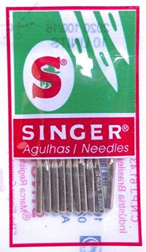 10 Singer Nähmaschinen Nadeln 2020 Stärke 90/14 für gewebte Stoffe