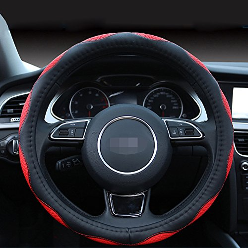 Durable,15inches Comfortable Cdycam Universal Non-slip Soft Car Auto Steering Wheel Covers Black