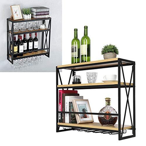 Estantes para vino, portabotellas Estante para botellas Estante para vidrio, Amantes del vino para cocina Sala de estar Tienda Vino
