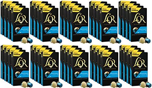 L'OR Espresso Coffee Decaffeinato Intensity 6 - Cápsulas de café de aluminio compatibles con Nespresso® * - 40 paquetes de 10 cápsulas (400 bebidas)