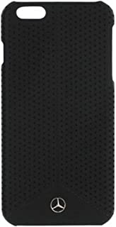 iPhone 6 Plus/6s Plus/7 Plus Mercedes Benz Wave II Perforated Leather Hard Case with Embossed Emblem - Black