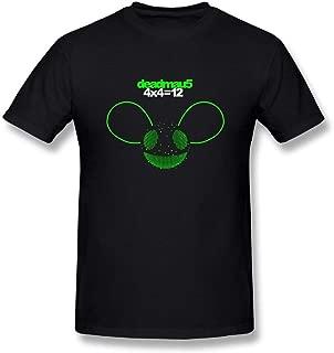 Men's Deadmau5 4x4=12 Cotton T Shirt Black