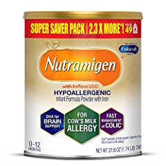 Contains 1 to 19.8 ounce can of hypoallergenic baby formula, lACtose and sucrose free milk powder with iron that provides nutrition for the first 12 months Enfamil nutramigen hypoallergenic baby formula delivers clinically proven relief when managing...