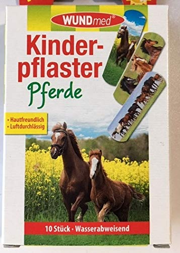 WUNDmed® 02-115 Pflaster 10 Stück Motiv-Pflaster Kinderpflaster (Pferde)