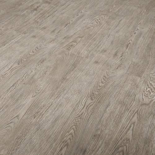 TRECOR® Klick Vinylboden RIGID 3.2 Massivdiele - 3,2 m stark mit 0,15 mm Nutzschicht - Sie kaufen 1 m² - WASSERFEST (Vinylboden 1 qm, Eiche Nevada)