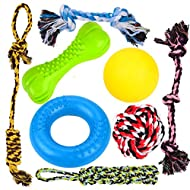 Youngever 8 Durable Dog Chew Toys, Puppy Toys, Dog Rope Toys Value Pack, Puppy Teething Toys for Small and Medium Dogs