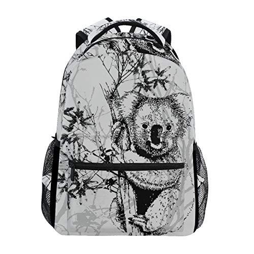 Niedlichen Bären Racoon Schulter Student Rucksacks Bookbags Kinderrucksack Büchertasche Rucksäcke für Teen Mädchen Jungs