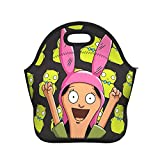 SHANNON SS Bob-Burgers Louise-Kuchi-Kopi Insulated Lunch Bag Portable Tote Bento Box School Office Beach Food Container Cooler Warm Handbag