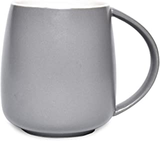 Bosmarlin Matte Ceramic Coffee Mug, Tea Cup for Office and Home, 13 oz, Dishwasher and Microwave Safe, 1 Pack 13 oz Grey