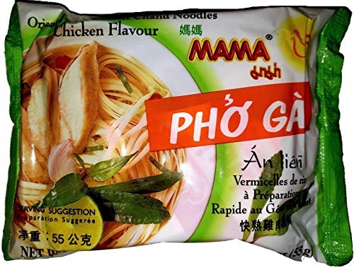 Mama Instant Noodles Pho Ga Chand Noodle Soup, Chicken (Pho Ga) 1.93 Oz. Packets (30 Pack)