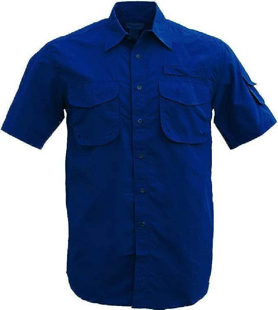 FOXFIRE Quick Dry All Nylon Navy Button Down Shirt