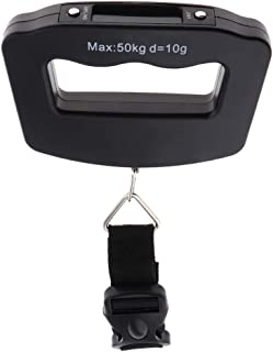 Prettyia Portable Travel Tare 110lb 50kg Hanging Belt Digital Suitcase Luggage Scale