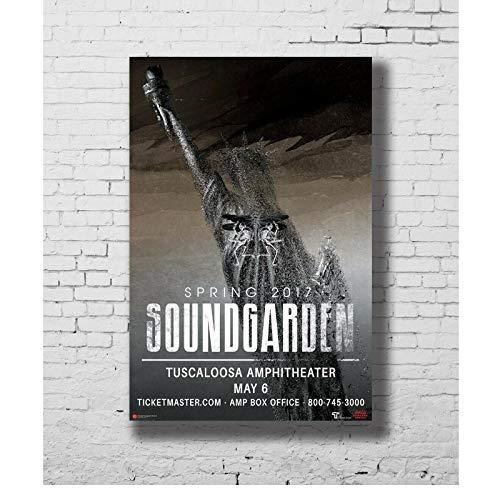 Chtshjdtb Wiosna 2017 Chris Cornell Soundgarden pudełko koncertowe sztuka wycieczka plakat płótno obraz obrazy dekoracja domu prezenty - 50 x 75 cm bez ramki 1 szt.