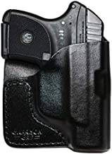 Garrison Grip Premium Stitch Black Italian Leather Pocket Holster for Ruger LCP and LCP II