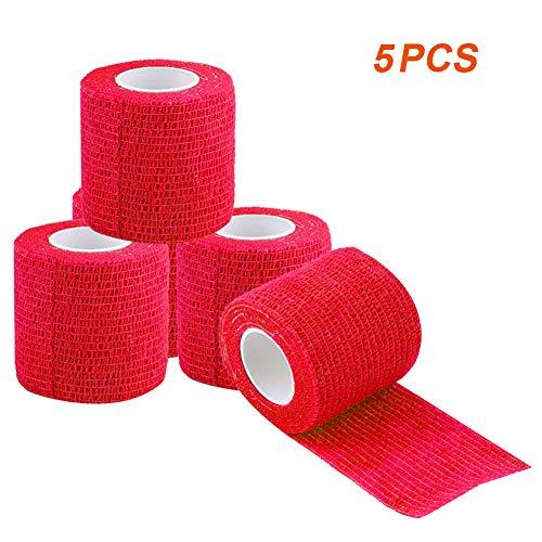VGEBY1 5 stuks waterdichte zelfklevende verband, zelfklevende bandage voor sport outdoor, 5 x 4,5 m