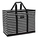 SCOUT 4 Boys Bag, Extra Large Beach Bag with Zipper, Pockets, and Comfort Grip Handles, Lightweight, Water-Resistant Utility Tote Bag in Fleetwood Black Pattern (Multiple Patterns Available)