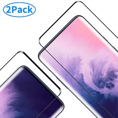 RIIMUHIR Schutzglas für OnePlus 7 Pro Gehärtetes Glas,OnePlus 7 Pro Panzerglas Schutzfolie, [Anti-Bläschen] [9H Festigkeit] [Anti-Kratzen][Anti-Fingerprint] - 2 Stück