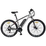 Carpat MTB - Bicicleta eléctrica (27,5 pulgadas, motor de 250 W, autonomía máxima de 60 km, Shimano SL-TX30, CSC10/11E, gris/blanco)