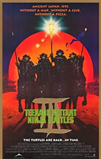 Teenage Mutant Ninja Turtles 3 Movie Poster (11 x 17 Inches - 28cm x 44cm) (1993) Style B -(Elias Koteas)(Paige Turco)(Stuart Wilson)(Sab Shimono)(Vivian Wu)