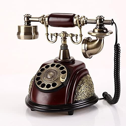 ZHPBHD Teléfono Retro Teléfono Fijo Vintage European Home Office House Hotel Revolución Antigua Línea De Tierra Fija Teléfono Hecho De Resina Metal