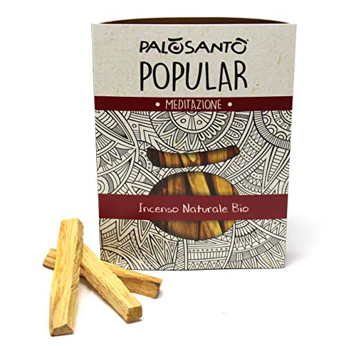 Incienso Natural Palo Santo - Madera Sagrada - Palitos Variedad Popular Suyo - 14 Palitos - para...