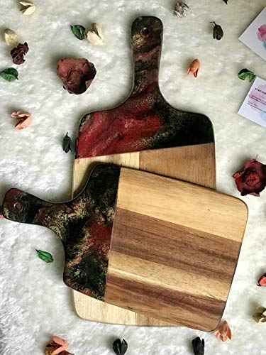 foodie gift pink and white marble epoxy chopping board Rose gold epoxy resin cutting board glitter marble cheese board hostess gift