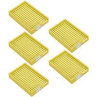 uxcell帯電防止ネジトレイ3.5mm-4.0mmプラスチックねじトレイホルダーイエロー 5個入り