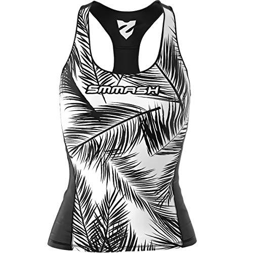 SMMASH Blackpalm Sport Top Tank Para Mujer, Camiseta de Tirantes Deportivas, Camiseta sin Manga para Fitness, Yoga, Formación, Material Transpirable y Antibacteriano, Fabricada en la UE (M)