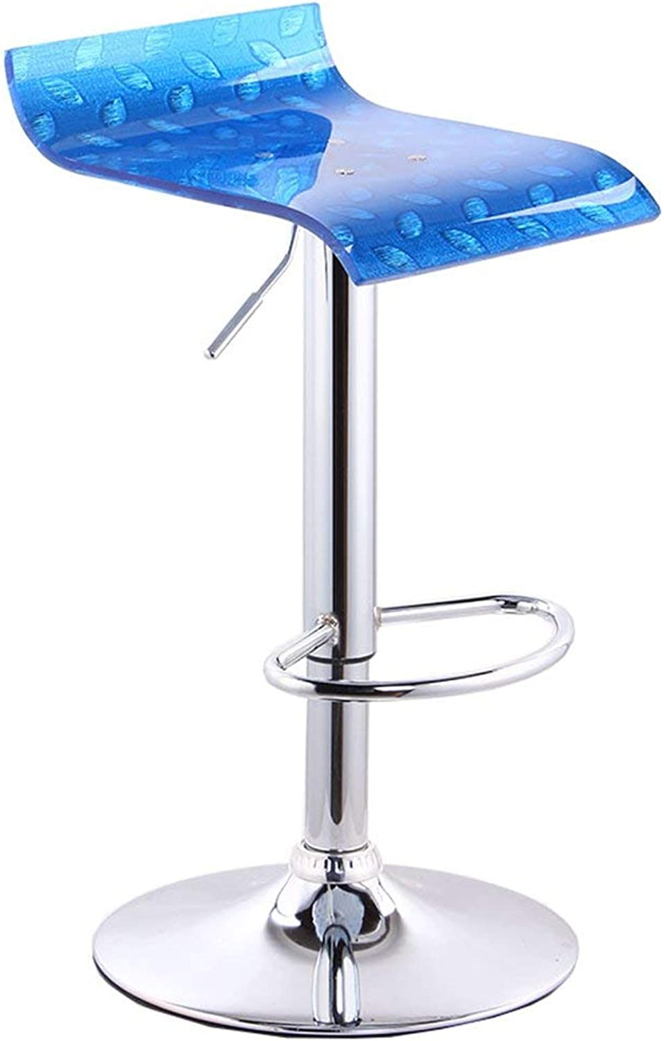 JZX Chair- Bar Stool Acrylic + Metal Stylish Simplicity Strong and Durable Height Adjustable Family Bar Cafe Practical Chair