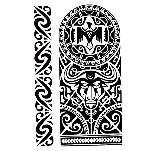 Tribal Tattoo Noir temporaire Arm Bras tatouage autocollants J523