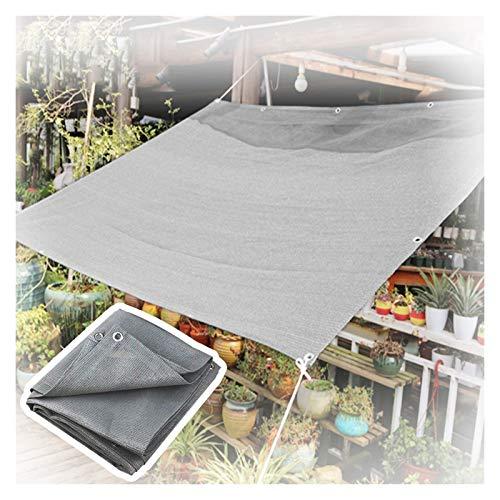 ALGFree Toldo Vela de Sombra, Protector Solar para Patio Anti-UV Resistencia Al Desgarro Lona para Toldo por Exterior Jardín Balcón, Personalizable (Color : Gray, Size : 4x8m)