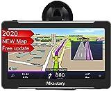 Mksutary 7' GPS Voiture Auto - Cartographie Europe 52 Pays Mise à Jour à Vie - 7 Pouces Ecran Tactile Haute Luminosité avec Support Stable