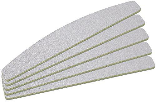 5 Stück Zebrafeile Halbmond Körnung 100/180 - Ultra Longlife Beschichtung - in Profi Studioqualität