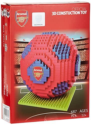 BRXLZ Arsenal FC Football Premier League Championship Logo Team Building Set 3D Construction Toy
