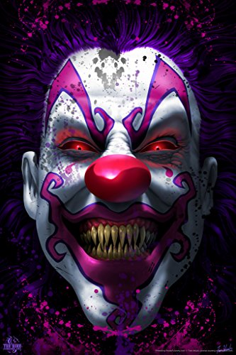 Keep Smiling Scary Clown Horror Tom Wood Fantasy Art Spooky Scary Halloween Decorations Cool Wall Decor Art Print Poster 12x18