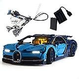 GEAMENT Kit de Luces LED para Bugatti Chiron - Compatible con Lego Technic 42083 (Juego Lego no Incluido) (con Instrucciones)