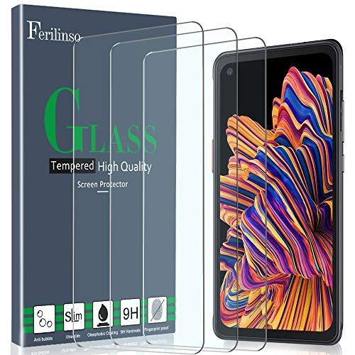 Ferilinso Schutzfolie für Samsung Galaxy Xcover Pro Panzerglas, [3 Pack] Gehärtetes Glas Displayschutzfolie Panzerglas Hartglas für Samsung Galaxy Xcover Pro Panzerglas (Transparent)