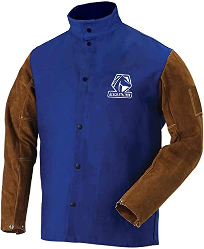 Revco FRB9-30C/BS-XL 9oz FR Cotton & Cowhide Hybrid Welding Jacket, XL