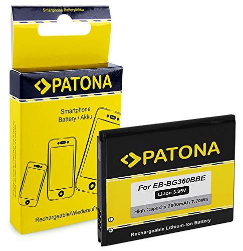 PATONA Batterie EB-BG360BBE 2000mAh Compatible avec Samsung Galaxy Core Prime CDMA TD-LTE Value Edition