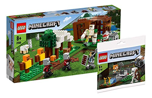 Collectix Lego Minecraft - Set: 21159 Der Plünderer-Außenposten + 30394 The Skeleton Defense
