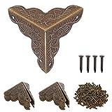 40 Piezas Protector de Esquina de Metal en Forma de Triángulo, Decoración de Aspecto Antiguo Para Muebles, Combinando moda antigua y belleza